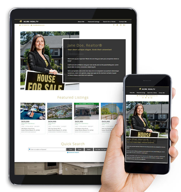 Agent Starter Real Estate Web Design Package