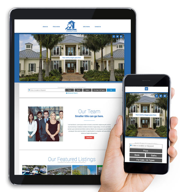 Full Website Real Estate Web Design Package