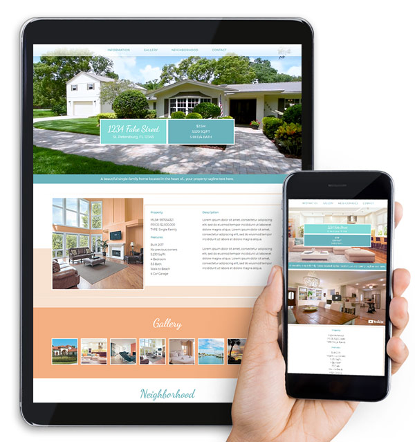 Single Listing Real Estate Web Design Package